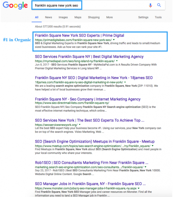 franklin-square-new-york-seo-rankings-screeshot