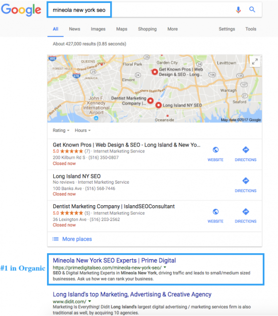 mineola-new-york-seo-rankings-screenshot